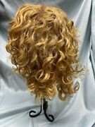 Size 12 Golden Blonde Mohair Wig With Extensions For Antique Doll- Hand Made