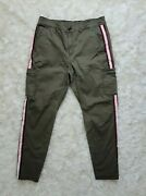 Athleta Womens Pants Size 10 Green Solid Relaxed Fit Cotton Blend Summit Cargo