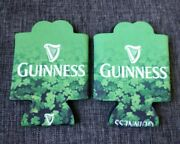 Set Of 2 Green Guinness Beer Coozies Koozie Huggie Can Bottle Cooler Holder Cosy