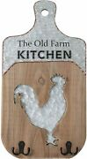 Kitchen Rustic Farmhouse Wood Sign Primitive Home Decor Country Rooster