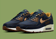 Nike Air Max 90 Shoes Cork Obsidian Blue Wheat Dd0385-400 Menand039s Multi Size New