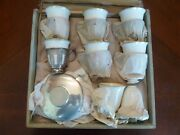 Sterling Silver And Co 20pc Demitasse Tea Or Coffe Cup Set Lenox W/ Box