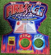 Fire And Ice Extreme Ticket Redemption Arcade Game Benchmark Control Panel Plastic