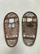 Us Wwii Snow Shoes By C.a. Lund. Hastings Minnesota. Leather-wood 13 X 28