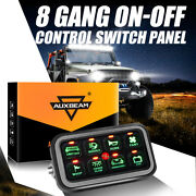 Auxbeam 8 Gang On-off Control Switch Panel Electronic Relay System Universal New