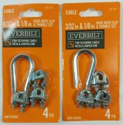 2 Packs - Everbilt 3/32 And 1/8 Stainless Steel Wire Rope Clamp Sets Hd