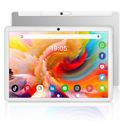 White Octa-core 10 Inch Tablet Android 10.0, 32gb/128gb Expand, 1200x1920 Ips Hd