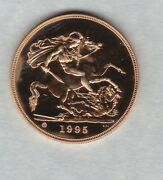 Boxed 1995 United Kingdom Brilliant Uncirculated Gold Andpound5 Coin With Certificate.