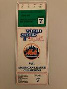 Historic 1986 World Series Game 7 Ticket New York Mets Boston Red Sox Shea