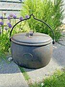 Antique Old Cast Iron Cooking Pot Stove Gypsy 3 1/2 Gallon A Kenrick And Sons