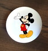 Mickey Mouse Ceramic Kitchen Cabinet Knob Handle 1 1/2 Over Sized Dresser