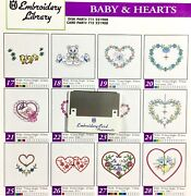 Babies And Hearts Embroidery Designs Card For Husqvarna Viking Sewing Machines