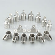 16x 7/8 Boat 316 Stainless Eye End Fitting Jaw Slide Deck Hinges Bimini Top Set