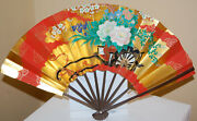 1920and039s 30and039s Mitsibushi Electric Corp Folding Paper Hand Fan 8.75 Advertising