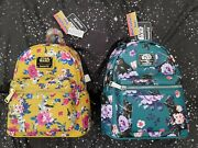 Brand New Loungefly Star Wars Set Darth Vader And Stormtrooper Floral Backpacks