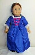 American Girl Pleasant Company Felicity Vintage Doll W/shift And Christmas Gown