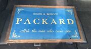 1931 Packard Sales And Service Reverse Painted Glass Rare Showroom Sign