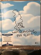 Matt Groening Signed The Simpsons Family History Book Marge Sketch Drawing Bas