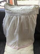 Vintage Mcm 1950andrsquos Cotton Lawn Handmade Apron Stitched And Edged In Pink