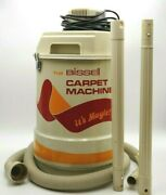 Vintage Bissell Carpet Machine Vacuum Cleaner W/ Hose And Wand Model 616