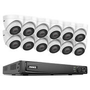 Annke 16ch Nvr 4k Poe Security Camera System Hd 8mp Audio Outdoor Ir Night Home