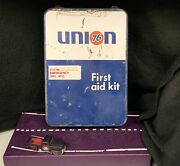 Vintage 1960's Union 76 Gas Station First Aid Kit Complete Original Condition