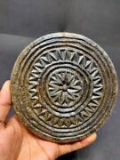 Antique Stone Cookie Maker Mold Hand Crafted Unique Design Die Rolling Plate