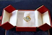 Blue Oval Topaz Ring Solid 14k Gold Size 6, Center Stone Est. 2.66ct 985 Val