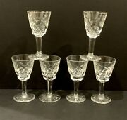 Waterford Crystal Ashling Set Of 6 Cordials 3 1/2 Ireland, Excellent