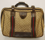 Vintage Large Messenger Bag Leather Handle 18 Inches Wide 12 Inches Tall