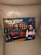 New Beer Sternquell Pilsner Metal Sexy Girl Advertising Car Poster