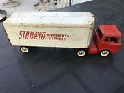 Vintage Pressed Steel Structo Trans Continental Express Big Rig Semi Truck Toy