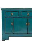 Antiques Sidebaord Lowboard Chinois Asie Asiatique Turquoise M-sid-yd38
