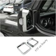 Fit Jeep Wrangler Jl 2018-2020 Rear View Side Mirror Frame Cover Trim Abs Chrome