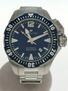 Secondhand Hamilton Khaki Navy Open Water Automatic Watch Analog Stainless Steel
