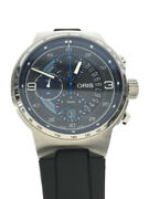 Secondhand Oris Self-winding Watch Analog Stainless Steel Blk Gry Martini Racing
