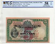 The Chartered Bank Of India Australia And China 5 Dollars In Pcgs 58