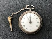 Higgs And Evans Antique Pocket Silver Watch Londres 1788
