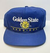 Vintage 80s 90s Golden State Warriors Basketball Twins Snapback Hat Game Nba Cap