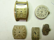 Elgin Watch Vintage Watch Movements And 1 Case For Restorations Or Spare Parts