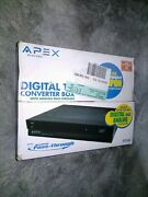 Apex Dt250a Digital Tv Converter Box With Analog Pass Through With Remote
