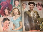 Antique Scrap Book 76 Pages Cut Outs Very Famous People Vtg 1950and039s 300+ Pictures