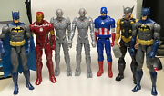 7 Marvel And Dc 12 Action Figures Thor, Batman And Ultron, Iron Man, 2013-18