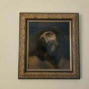 Jesus Christ With Crown Of Thorns. Oil On Panel. Baroque. 16th - 17th Century