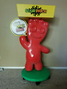 Sour Patch Kid Jumbo 3-1/2 Foot Plastic Store Display On Wheels With Tray