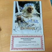 Lord Of The Rings Cast Signed Photo 10 X 8 Coa Return Of King Autograph Lotr