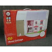Bigjigs Toys Jt101 Heritage Playset Rose Cottage Doll House - New Open Box