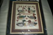 Vintage Bucilla Decoycollection Ducks Counted Cross-stitch Kit Factorysealed