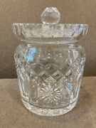 Waterford Lismore Biscuit Jar Signed By Tom Cooke Master Engraver Dated 1984