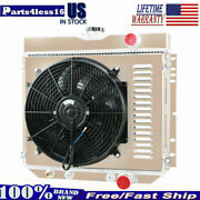 4 Row Radiator+shroud Fan For 1967-70 Ford Mustang Ltd/1964-68 Country Squire V8